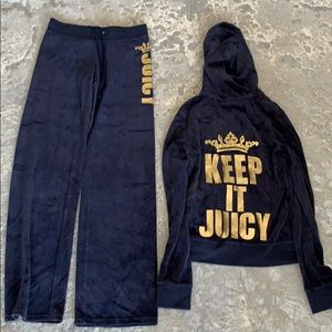 Juicy Couture- Keep it Juicy, Navy/Gold Tracksuit